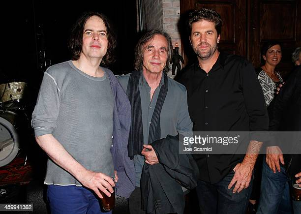 Musicians Jon Brion Jackson Browne and Sam Jones attend DIRECTV Celebrates 'Off Camera With Sam Jones' on December 3 2014 in Los Angeles California