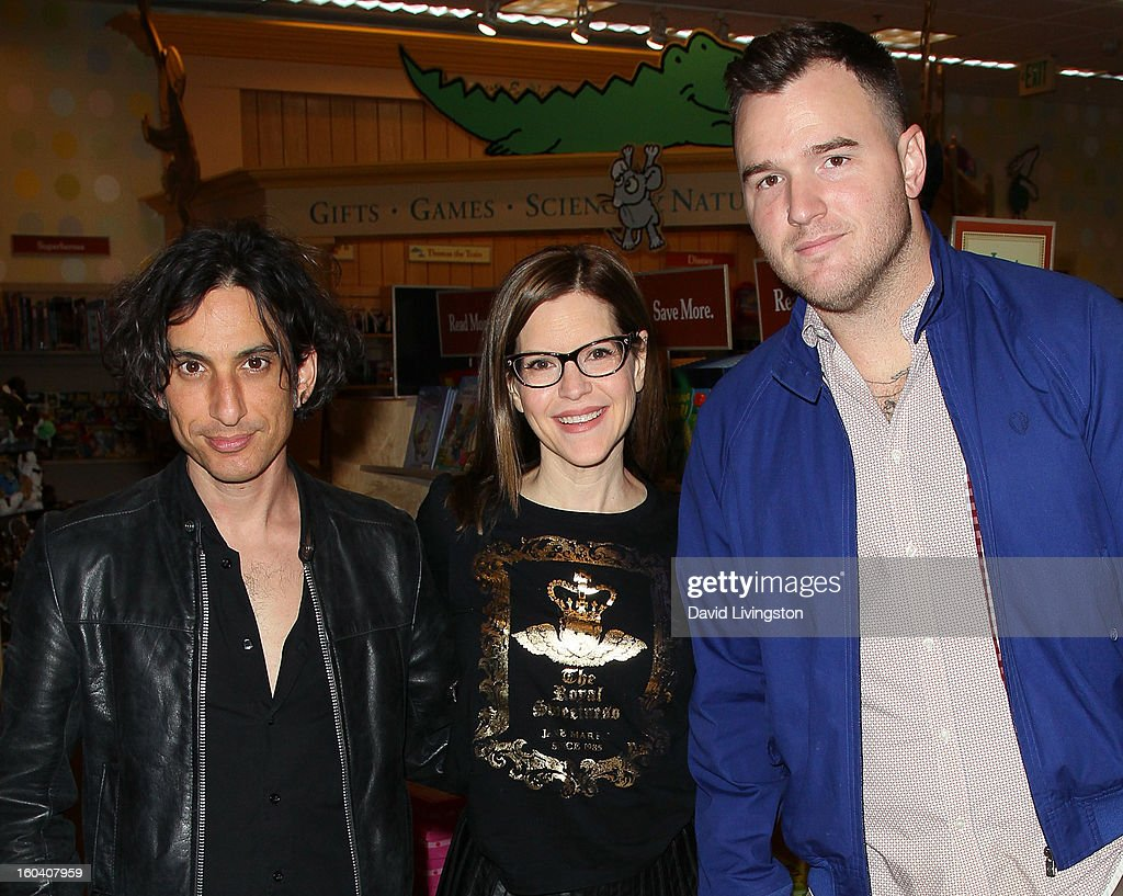 Musicians Jonny Polonsky, Lisa Loeb and Chad Gilbert attend a CD signing and performance for Loeb's new CD 'No Fairy Tale' at Barnes & Noble bookstore at The Grove on January 30, 2013 in Los Angeles, California.