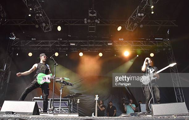 Musicians Jordan Kelley and Jason Huber of Cherub perform during the 2015 Austin City Limits Music Festival at Zilker Park on October 2 2015 in...