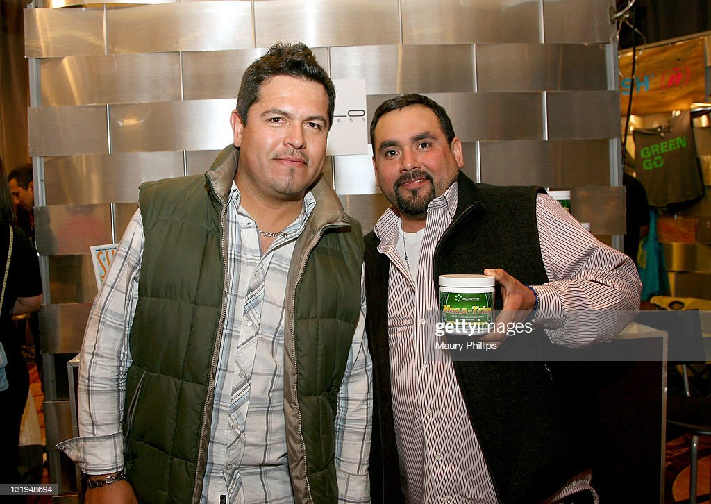 Musicians Jose Juan Hernandez (L) and Johnny Lee Rosas of the group Intocable attend the 12th Annual Latin GRAMMY Awards Gift Lounge Day 1 held at the Mandalay Bay Events Center on November 8, 2011 in Las Vegas, Nevada.