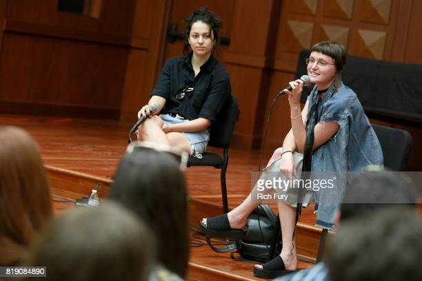 Musicians Josette Maskin and Katie Gavin of MUNA offer advice to students at the GRAMMY Museum's GRAMMY Camp Los Angeles at USC Thornton School of...