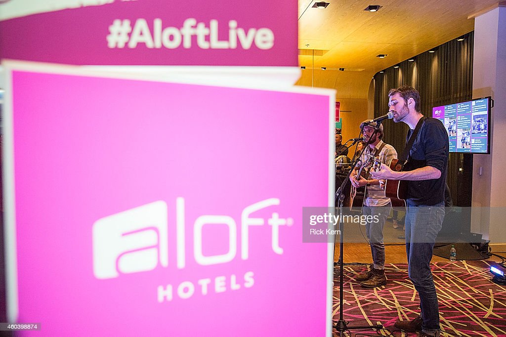 Musicians Joshua Wilkerson and Josh Jenkins of Green River Ordinance perform during Aloft Hotels 100 Days Of Music at Aloft Austin at the Domain on...