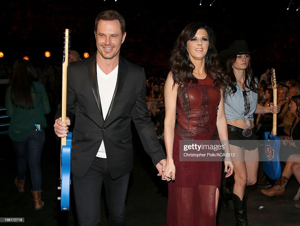 Musicians Karen Fairchild (R) and Jimi Westbrook of Little Big Town attend the 2012 American Country Awards at the Mandalay Bay Events Center on December 10, 2012 in Las Vegas, Nevada.
