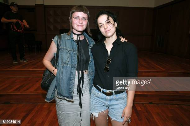 Musicians Katie Gavin and Josette Maskin of MUNA offer advice to students at the GRAMMY Museum's GRAMMY Camp Los Angeles at USC Thornton School of...