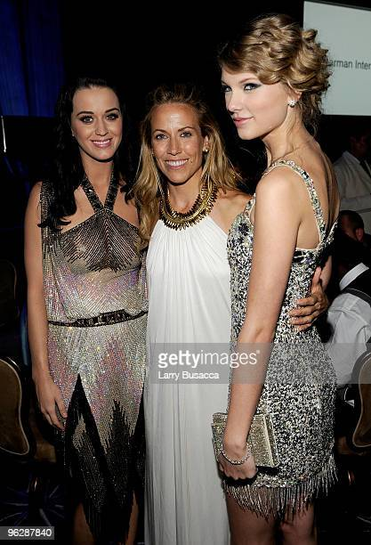 Musicians Katy Perry Sheryl Crow and Taylor Swift during the 52nd Annual GRAMMY Awards Salute To Icons Honoring Doug Morris held at The Beverly...