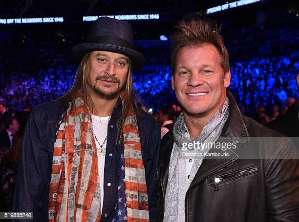 Musicians Kid Rock and Chris Jericho attend the 31st Annual Rock And Roll Hall Of Fame Induction Ceremony at Barclays Center of Brooklyn on April 8...
