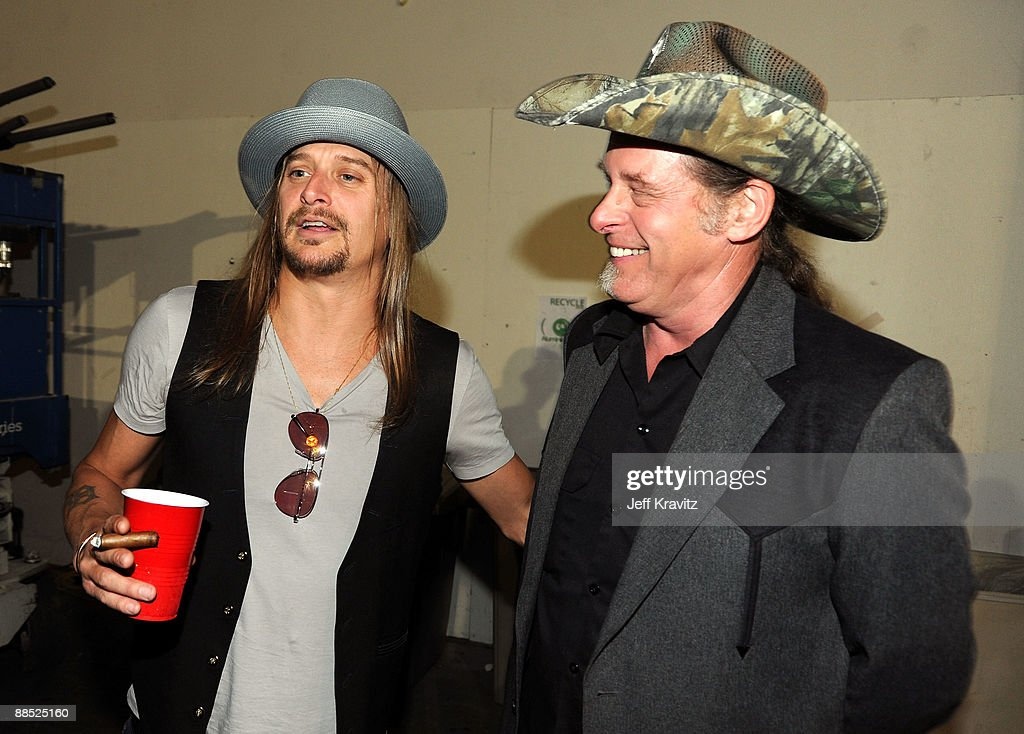 Musicians Kid Rock and Ted Nugent attend the 2009 CMT Music Awards at the Sommet Center on June 16, 2009 in Nashville, Tennessee.