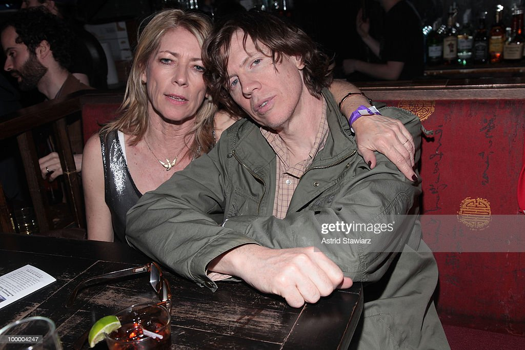 Musicians Kim Gordon and Thurston Moore of the band Sonic Youth attend Anthology Film Archives 40th Anniversary 'Return to the Pleasure Dome' celebration at the Hiro Ballroom at The Maritime Hotel on May 19, 2010 in New York City.