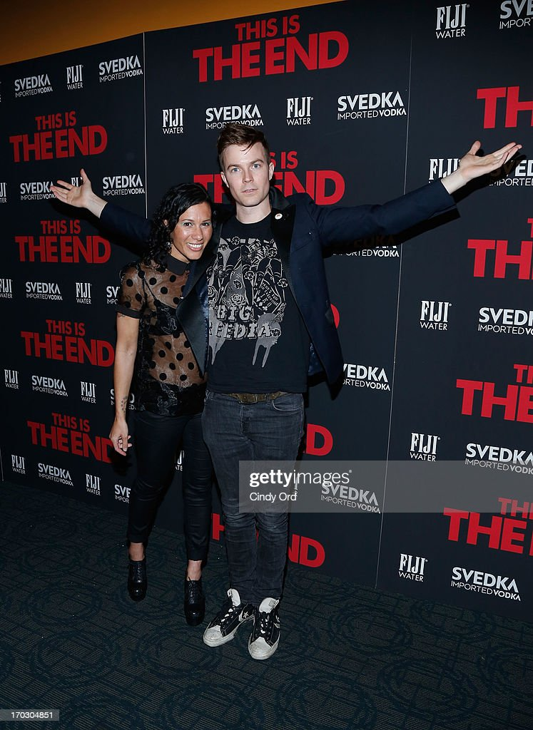 Musicians Kim Schifino and Matt Johnson of Matt & Kim attend 'This Is The End' New York Premiere at Sunshine Landmark on June 10, 2013 in New York City.
