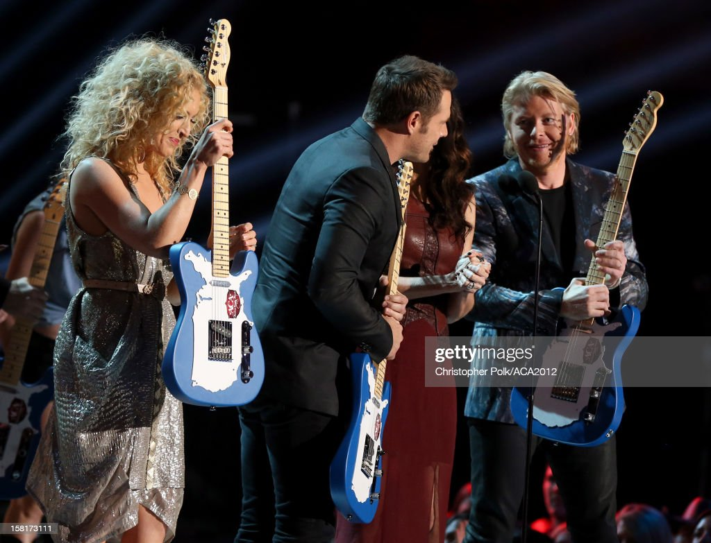 Musicians Kimberly Roads Schlapman, Jimi Westbrook, Karen Fairchild and Phillip Sweet of Little Big Town accept the award for Music Video of the Year: Group onstage during the 2012 American Country Awards at the Mandalay Bay Events Center on December 10, 2012 in Las Vegas, Nevada.