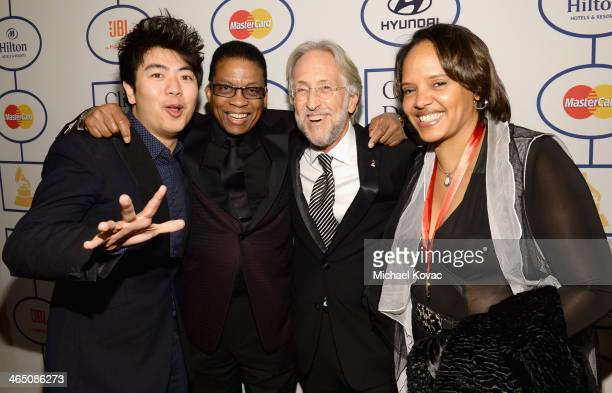 Musicians Lang Lang and Herbie Hancock Recording Academy President/CEO Neil Portnow and musician Terri Lyne Carrington attend the 56th annual GRAMMY...