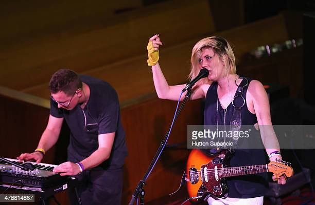 Musicians Leif Shackelford and Erika M Anderson of EMA perform onstage at Pitchfork during the 2014 SXSW Music Film Interactive Festival at Central...