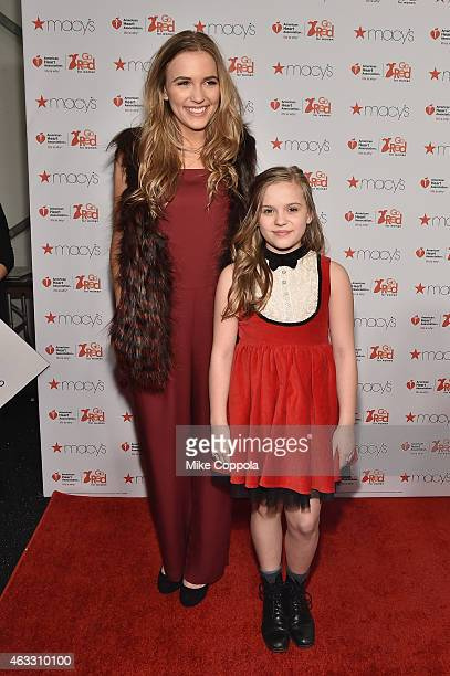 Musicians Lennon Stella and Maisy Stella attend the Go Red For Women Red Dress Collection 2015 presented by Macy's fashion show during MercedesBenz...
