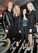Musicians Lucky Blue Smith Daisy Clementine Smith Queen Starlie Smith and Pyper America Smith of The Atomics attend DSQUARED2 Los Angeles cocktail...