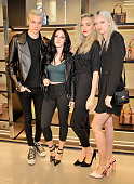 Musicians Lucky Blue Smith Queen Starlie Smith Daisy Clementine Smith and Pyper America Smith of The Atomics attend DSQUARED2 Los Angeles cocktail...