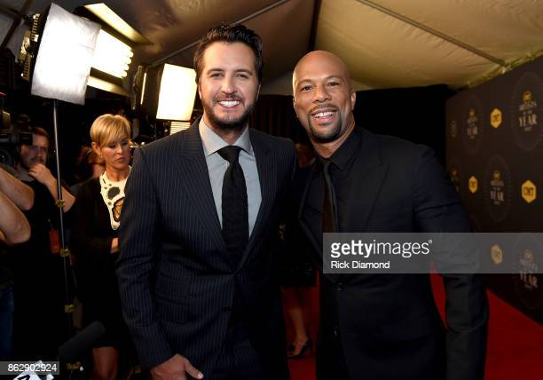 Musicians Luke Bryan and Common arrive at the 2017 CMT Artists Of The Year on October 18 2017 in Nashville Tennessee