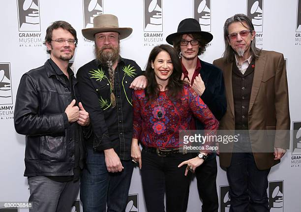 Musicians Luther Dickinson Doug Graham and Alyssa Graham of The Grahams and Cody Dickinson with Vice President of the GRAMMY Foundation Scott Goldman...