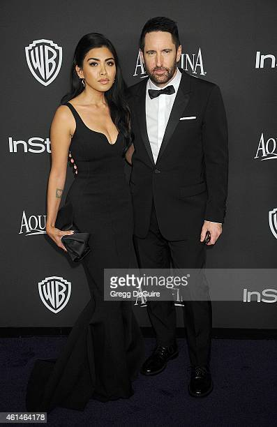 Musicians Mariqueen Maandig Reznor and Trent Reznor arrive at the 16th Annual Warner Bros And InStyle PostGolden Globe Party at The Beverly Hilton...