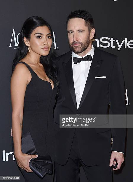 Musicians Mariqueen Maandig Reznor and Trent Reznor arrive at the 16th Annual InStyle and Warner Bros Golden Globe AfterParty at The Beverly Hilton...