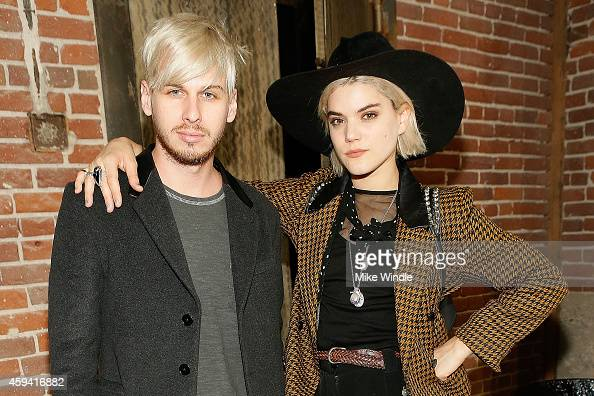 Musicians Mark Foster and Soko attend The Holy Other A Series Of Photos by Jena Malone Opening Reception on November 21 2014 in Los Angeles California