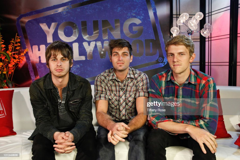 Musicians Mark Foster Cubbie Fink and Mark Pontius of Foster The People visit YoungHollywoodcom at the Young Hollywood Studio on May 24 2011 in Los...