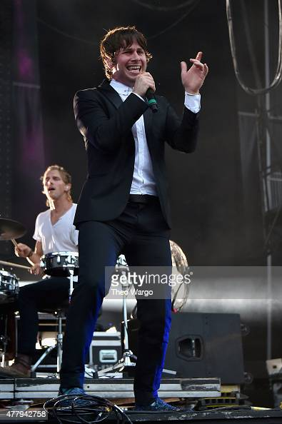 Musicians Mark Pontius and Mark Foster of Foster the People perform onstage during day 3 of the Firefly Music Festival on June 20 2015 in Dover...