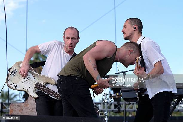 Musicians Matt Maust Nathan Willett and Dann Gallucci of Cold War Kids perform onstage during day 3 of the 2016 Coachella Valley Music Arts Festival...