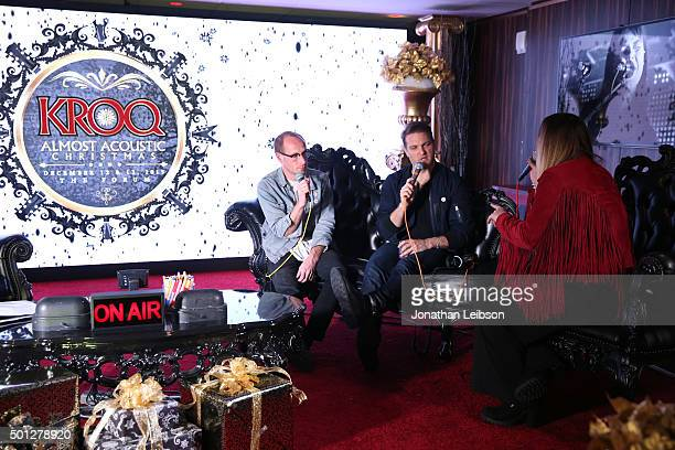 Musicians Matt Maust Nathan Willett of Cold War Kids and radio host Nicole Alvarez attend 1067 KROQ Almost Acoustic Christmas 2015 at The Forum on...