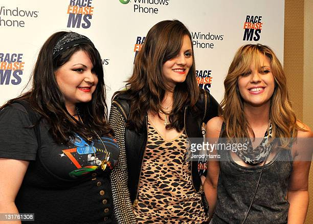 Musicians Maya Ford Brett Anderson and Allison Robertson of the band The Donnas visits Windows Phone at the 18th Annual Race to Erase MS event...