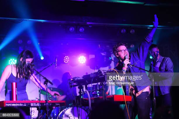 Musicians McKenzie Griffin and Walker Lukens perform during the Spoon SXSW Residency 2017 SXSW Conference and Festivals on March 16 2017 in Austin...