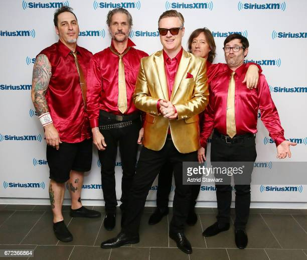Musicians Me First and the Gimme Gimmes visit the SiriusXM Studios on April 24 2017 in New York City