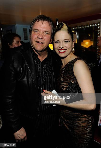 Musicians Meat Loaf and Imelda May attend the after party at Les Paul's 95th Birthday with Special Intimate Performance at Iridium Jazz Club on June...