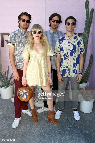Musicians Michael Runion Z Berg Jason Boesel and Alex Greenwald of the band Phases attends REVOLVE Desert House on April 17 2016 in Thermal California