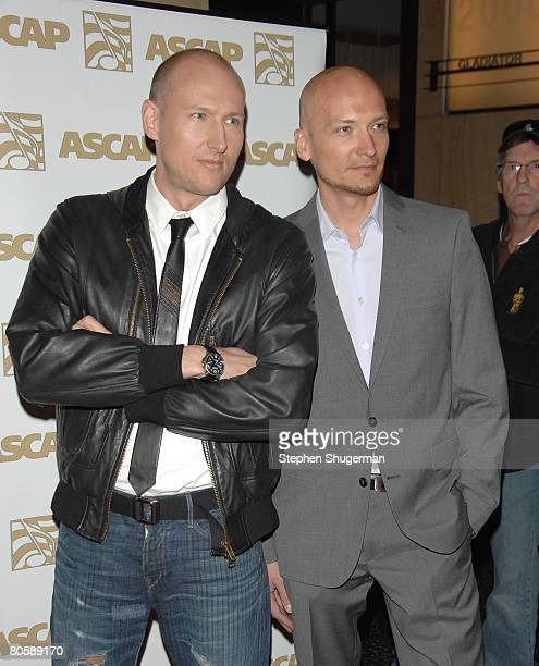 Musicians Mikkel Eriksen and Tor Hermansen of Stargate attend ASCAP's 25th Annual Pop Music Awards at the Kodak Theatre on April 9 2008 in Hollywood...