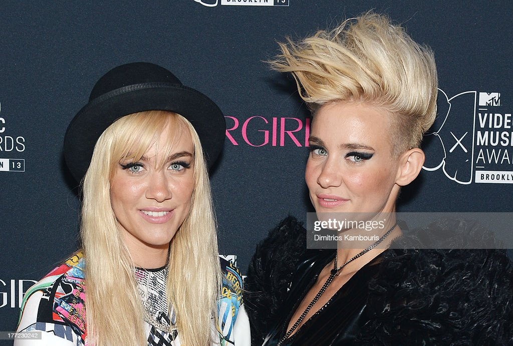 Musicians Miriam Nervo (L) and Olivia Nervo attend Easy, Breezy, Brooklyn hosted by Becky G and presented by MTV and COVERGIRL at Music Hall of Williamsburg on August 22, 2013 in the Brooklyn borough of New York City.
