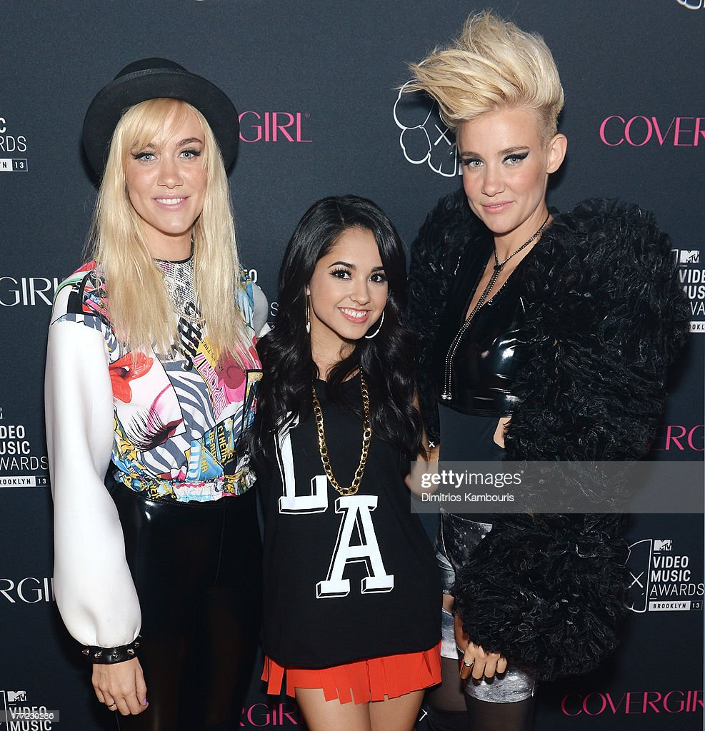 Musicians Miriam Nervo, Becky G, and Olivia Nervo attend Easy, Breezy, Brooklyn hosted by Becky G and presented by MTV and COVERGIRL at Music Hall of Williamsburg on August 22, 2013 in the Brooklyn borough of New York City.