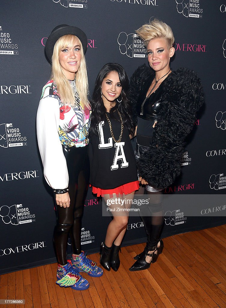 Musicians Miriam Nervo (L) Becky G and Olivia Nervo attend Easy, Breezy, Brooklyn hosted by Becky G and presented by MTV and COVERGIRL at Music Hall of Williamsburg on August 22, 2013 in the Brooklyn borough of New York City.