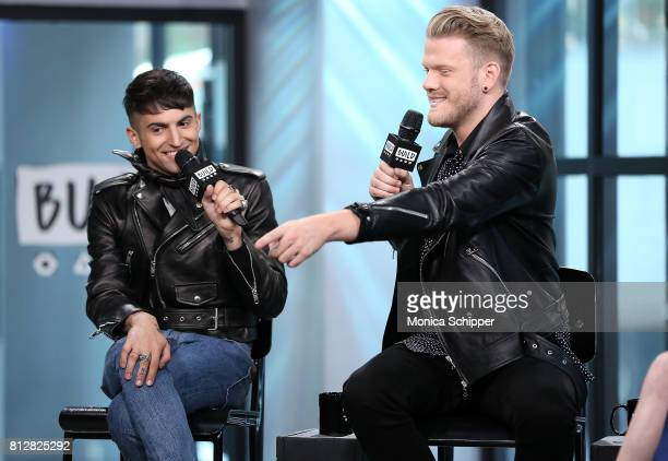 Musicians Mitch Grassi and Scott Hoying of Superfruit discuss their debut album 'Future Friends' at Build Studio on July 11 2017 in New York City