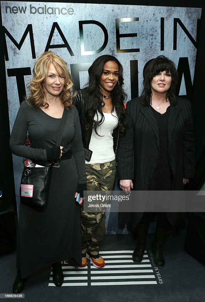 Musicians (L-R) Nancy Wilson, Michelle Williams, and Ann Wilson attends the Gift Lounge at the 28th Rock and Roll Hall of Fame Induction Ceremony presented by I Can't Believe It's Not Butter! 'Breakfast After Dark' produced by On 3 Productions at Nokia Theatre L.A. Live on April 17, 2013 in Los Angeles, California.