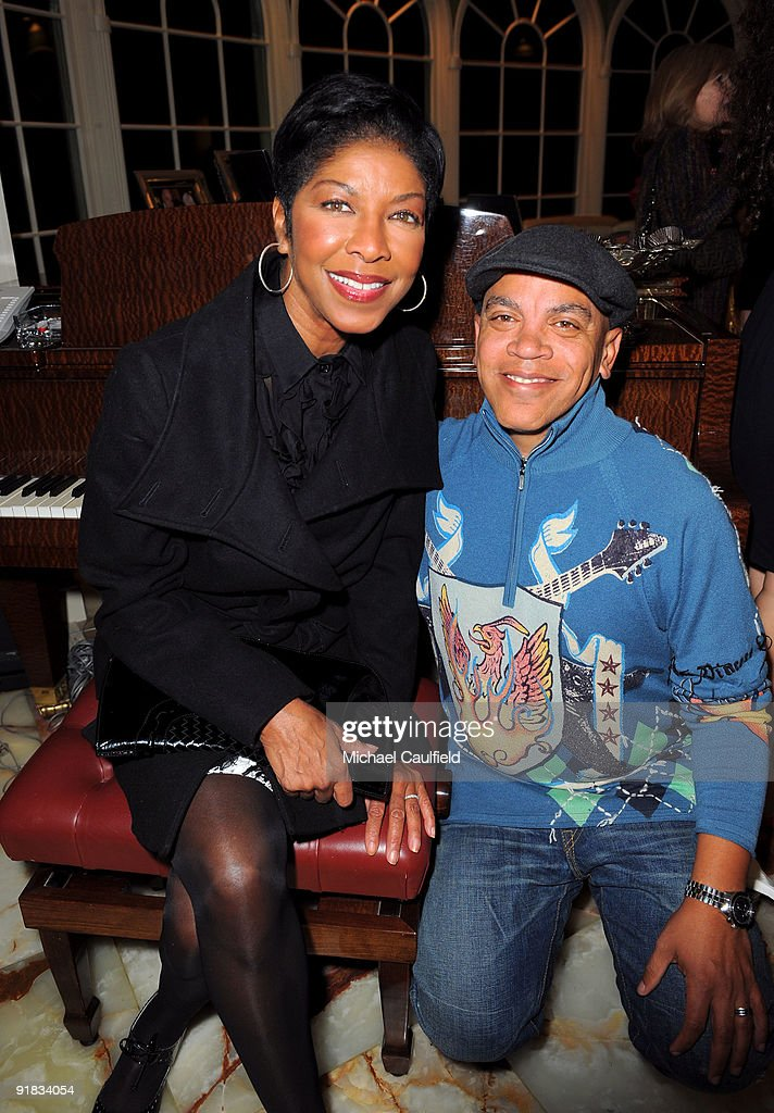 Musicians Natalie Cole and Johnny Mathis attend the 'On the List Fixing America's Failing Organ Transplant System' book release party at a private...