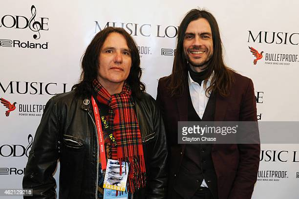 Musicians Nate Shaw and Brian Bell of The Relationship attend the Music Lodge Hosts MTV Interview Studio on January 24 2015 in Park City Utah