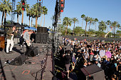 Musicians Nathan Willett Dann Gallucci and Matt Maust of Cold War Kids performs onstage during day 3 of the 2016 Coachella Valley Music And Arts...