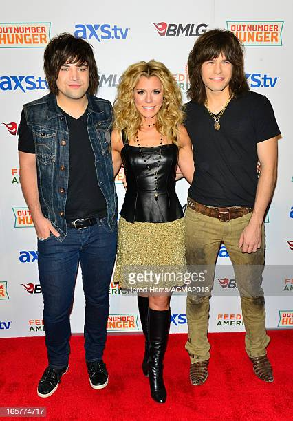 Musicians Neil Perry Kimberly Perry and Reid Perry of The Band Perry attend the ACM Experience during the 48th Annual Academy of Country Music Awards...