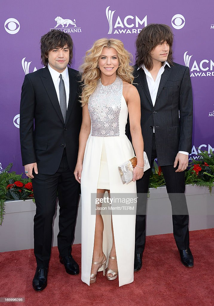 Musicians Neil Perry, Kimberly Perry and Reid Perry of The Band Perry arrive at the 48th Annual Academy of Country Music Awards at the MGM Grand Garden Arena on April 7, 2013 in Las Vegas, Nevada.