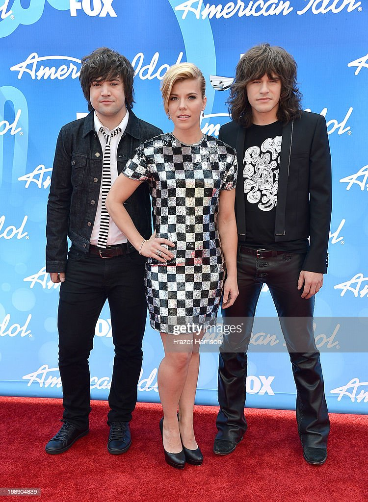 Musicians Neil Perry, <a gi-track='captionPersonalityLinkClicked' href=/galleries/search?phrase=Kimberly+Perry&family=editorial&specificpeople=6718325 ng-click='$event.stopPropagation()'>Kimberly Perry</a>, and <a gi-track='captionPersonalityLinkClicked' href=/galleries/search?phrase=Reid+Perry&family=editorial&specificpeople=6718326 ng-click='$event.stopPropagation()'>Reid Perry</a> of The Band Perry attends Fox's 'American Idol 2013' Finale - Results Show at Nokia Theatre L.A. Live on May 16, 2013 in Los Angeles, California.