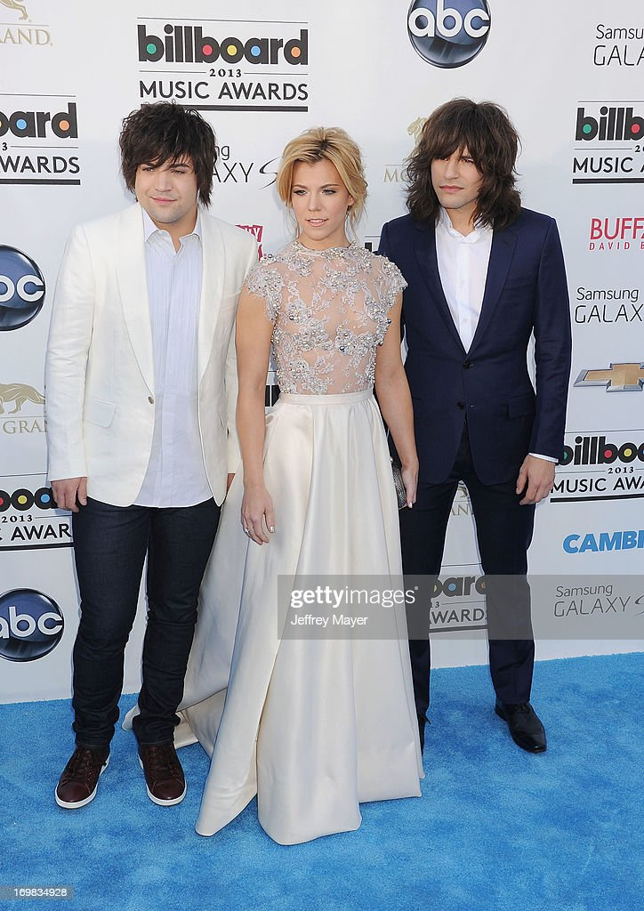 Musicians Neil Perry, Kimberly Perry and Reid Perry of The Band Perry arrive at the 2013 Billboard Music Awards at the MGM Grand Garden Arena on May 19, 2013 in Las Vegas, Nevada.
