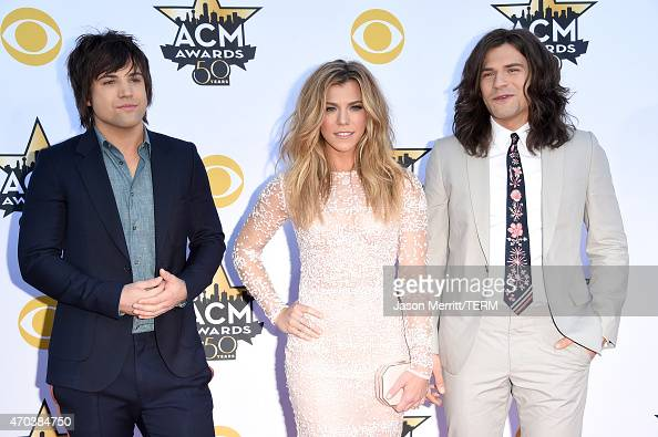 Musicians Neil Perry Kimberly Perry and Reid Perry of The Band Perry attend the 50th Academy of Country Music Awards at ATT Stadium on April 19 2015...