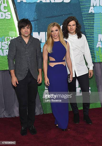Musicians Neil Perry Kimberly Perry and Reid Perry of The Band Perry attend the 2015 CMT Music awards at the Bridgestone Arena on June 10 2015 in...