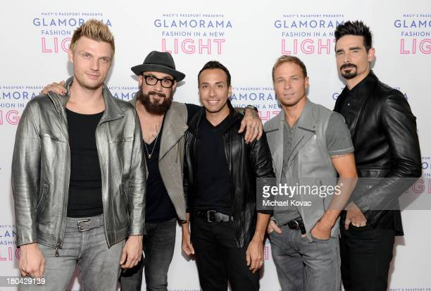 Musicians Nick Carter AJ McLean Howie Dorough Brian Littrell and Kevin Richardson of The Backstreet Boys attend Glamorama 'Fashion in a New Light'...