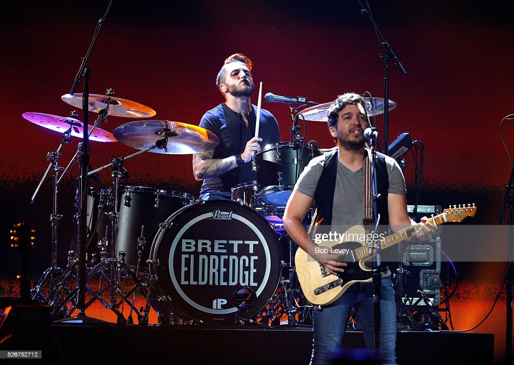 Musicians Nick Diamond (L) and Greg Carrillo perform onstage during the 2016 iHeartCountry Festival at The Frank Erwin Center on April 30, 2016 in Austin, Texas.
